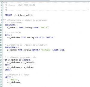 ABAP - Hello World interactif