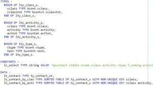 Déclarers des tables internes en ABAP