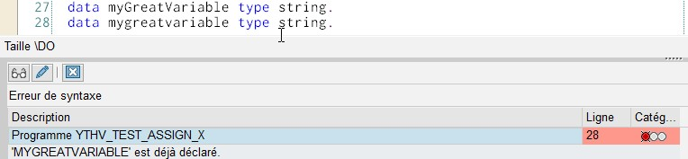Erreur de compilation : deux variables identiques