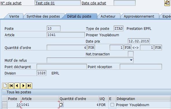 Dynpro SAP classique