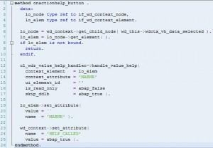 FPM - Web Dynpro - Aide à la recherche - Code de l'action sur le bouton